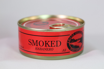 Canned smoked habanero oysters