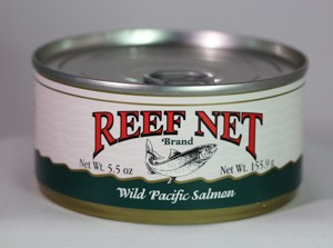 Reef Net canned wild pacific salmon