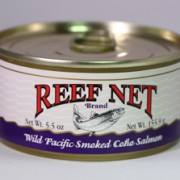 Reef Net canned wild pacific smoked coho salmon