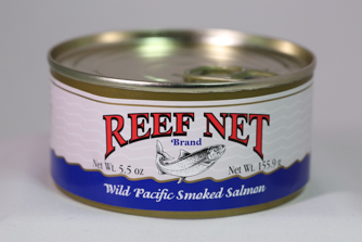 Reef Net canned wild pacific smoked salmon