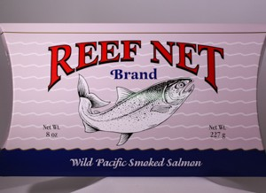 Reef Net wilf pacific smoked salmon boxed